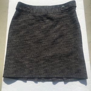 NWOT Raffaella Studio Black Tweed Skirt 4P